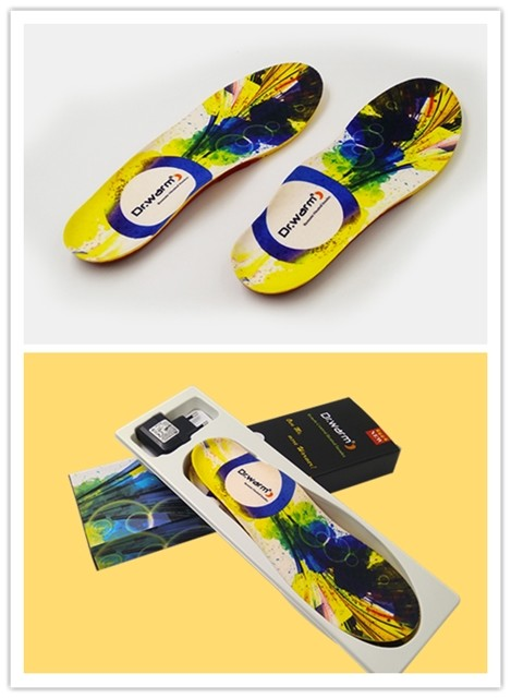 Dr. Warm control remote heated insoles lasts for 3-7hours for home