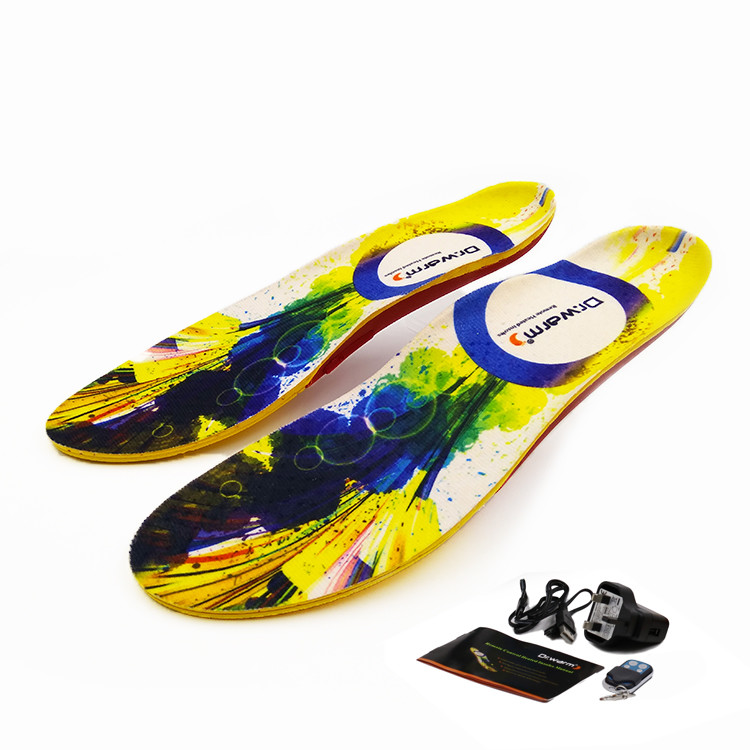 Dr. Warm rechargeable heated insoles fit to most shoes for outdoor