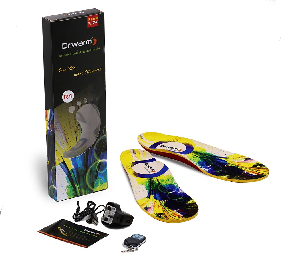 rechargeable best heated insoles control fit to most shoes for outdoor-26