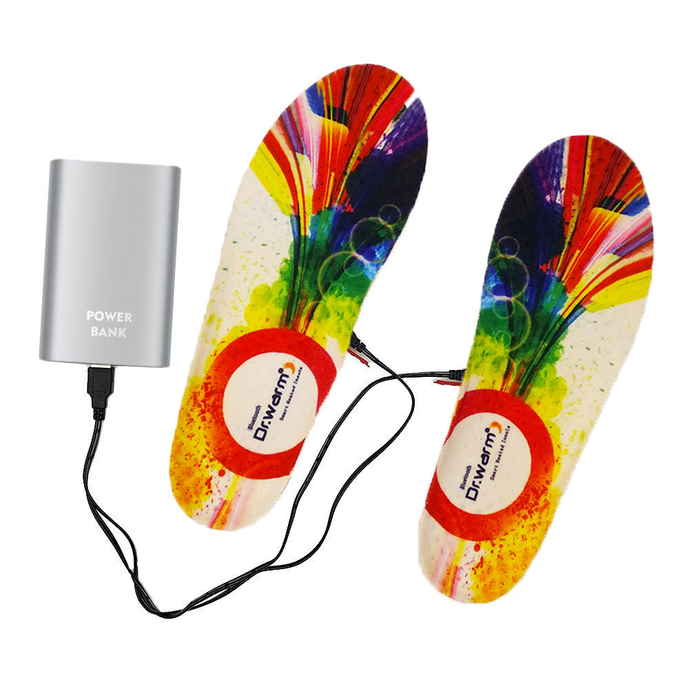 Dr. Warm control remote control heated insoles lasts for 3-7hours for ice house