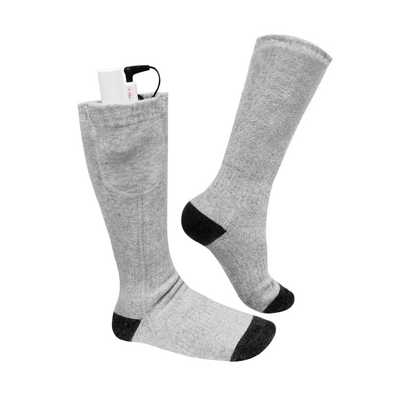 Dr. Warm soft rechargeable electric socks keep you warm all day for winter-2