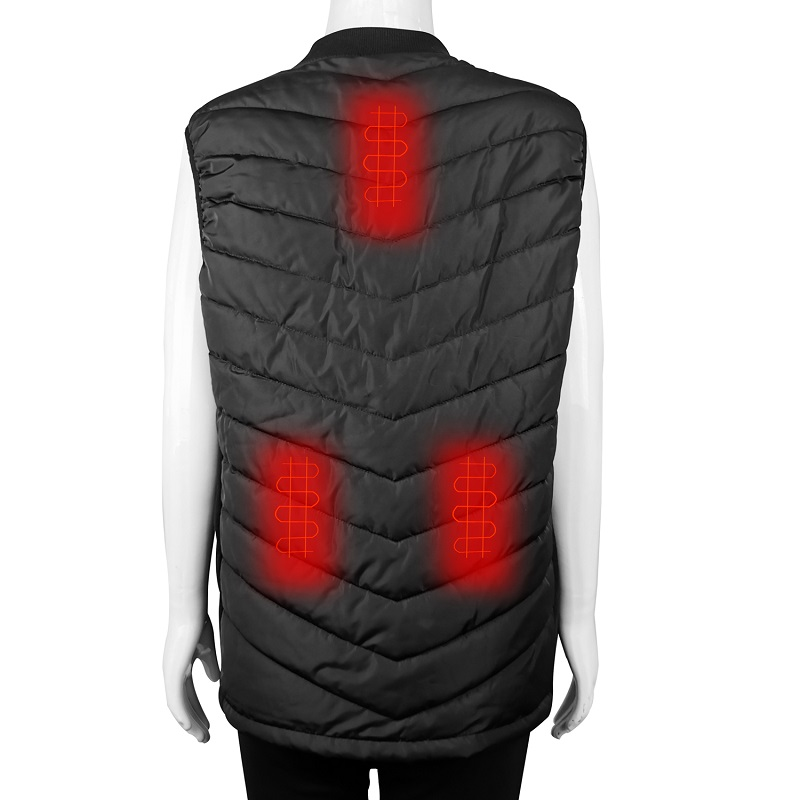 heated battery powered heated vest smart with prined pattern for winter-8