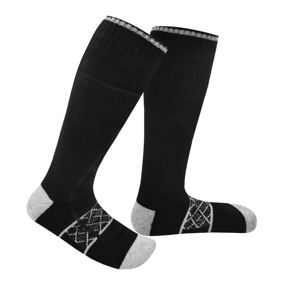 3.7V Rechargeable ski Heated Socks custom Thermal sock men and women with Lithium ion Battery