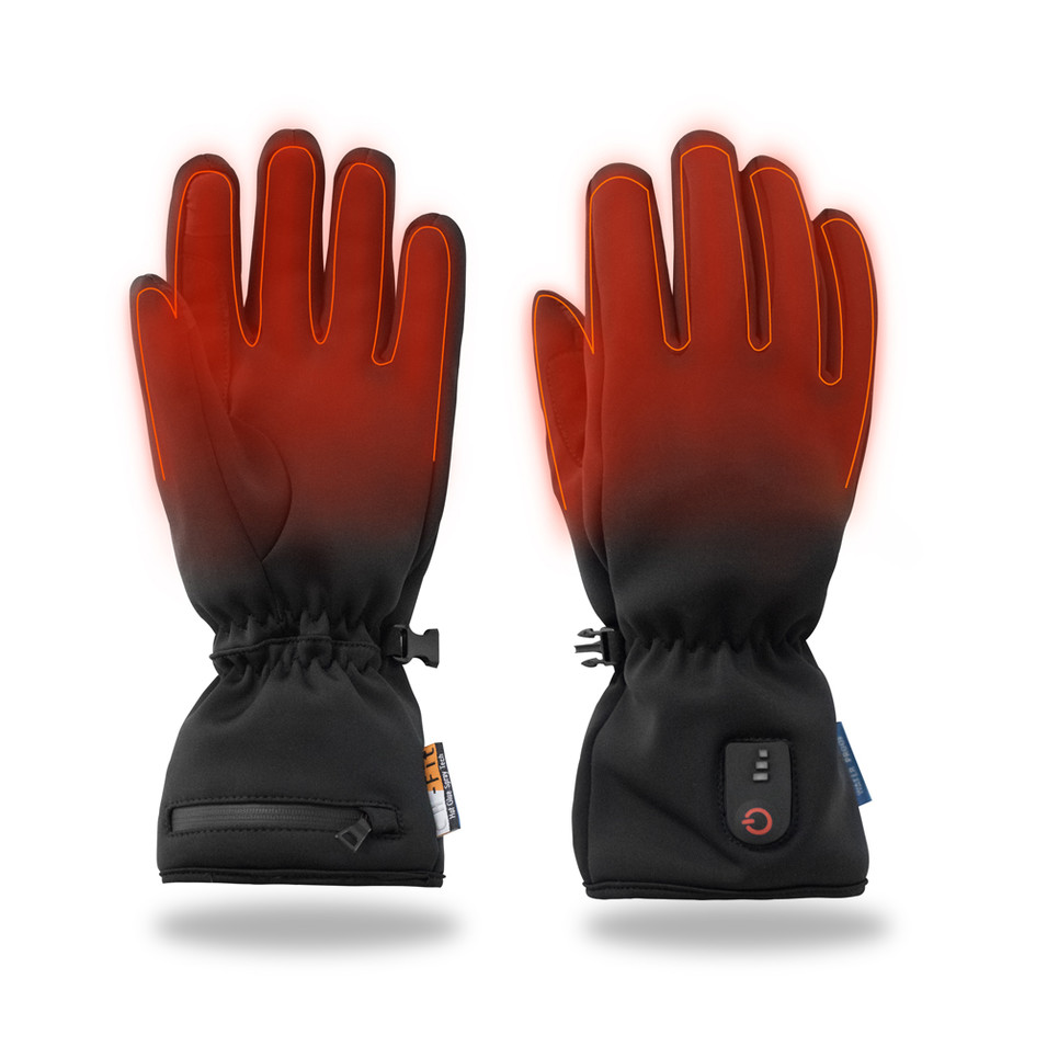 Waterproof Thin heated gloves for driving, riding, fishing with touch screen