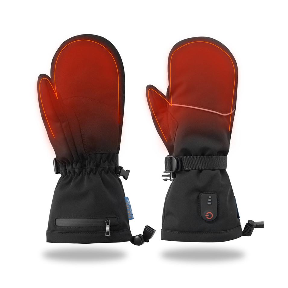 Fingerless heating gloves outdoor sports riding skiing warmer, Mitt shell pattern