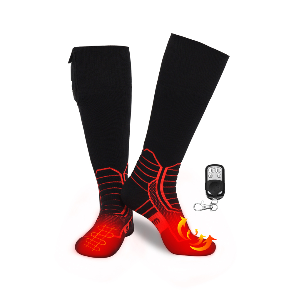 Dr. Warm cotton battery socks with prined pattern for outdoor-1