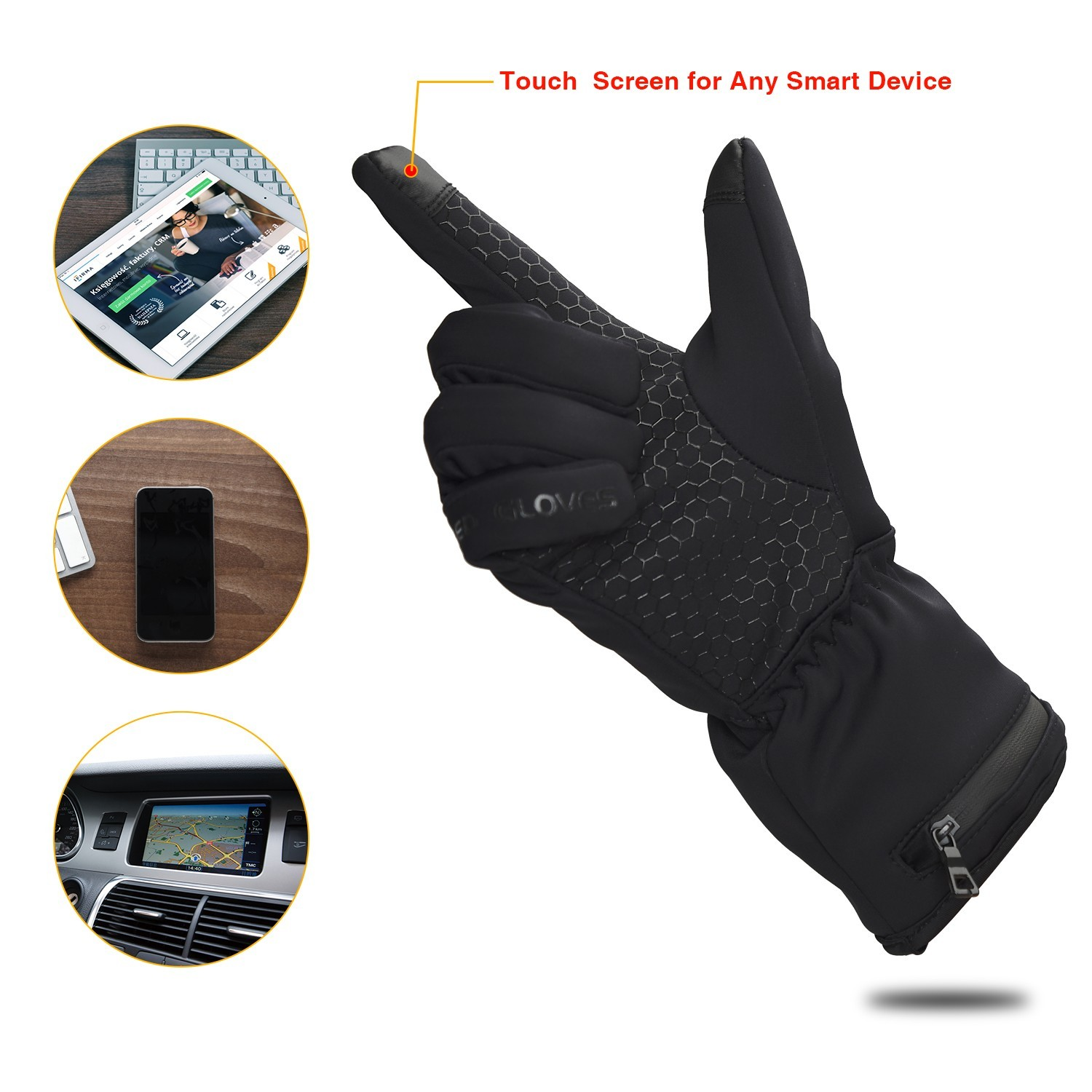 Dr. Warm high quality heated winter gloves for outdoor