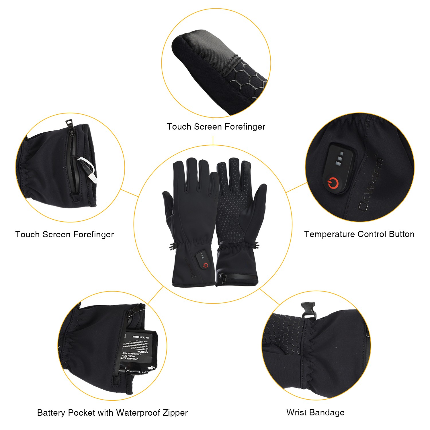 Dr. Warm sensitive heated winter gloves improves blood circulation for winter-8