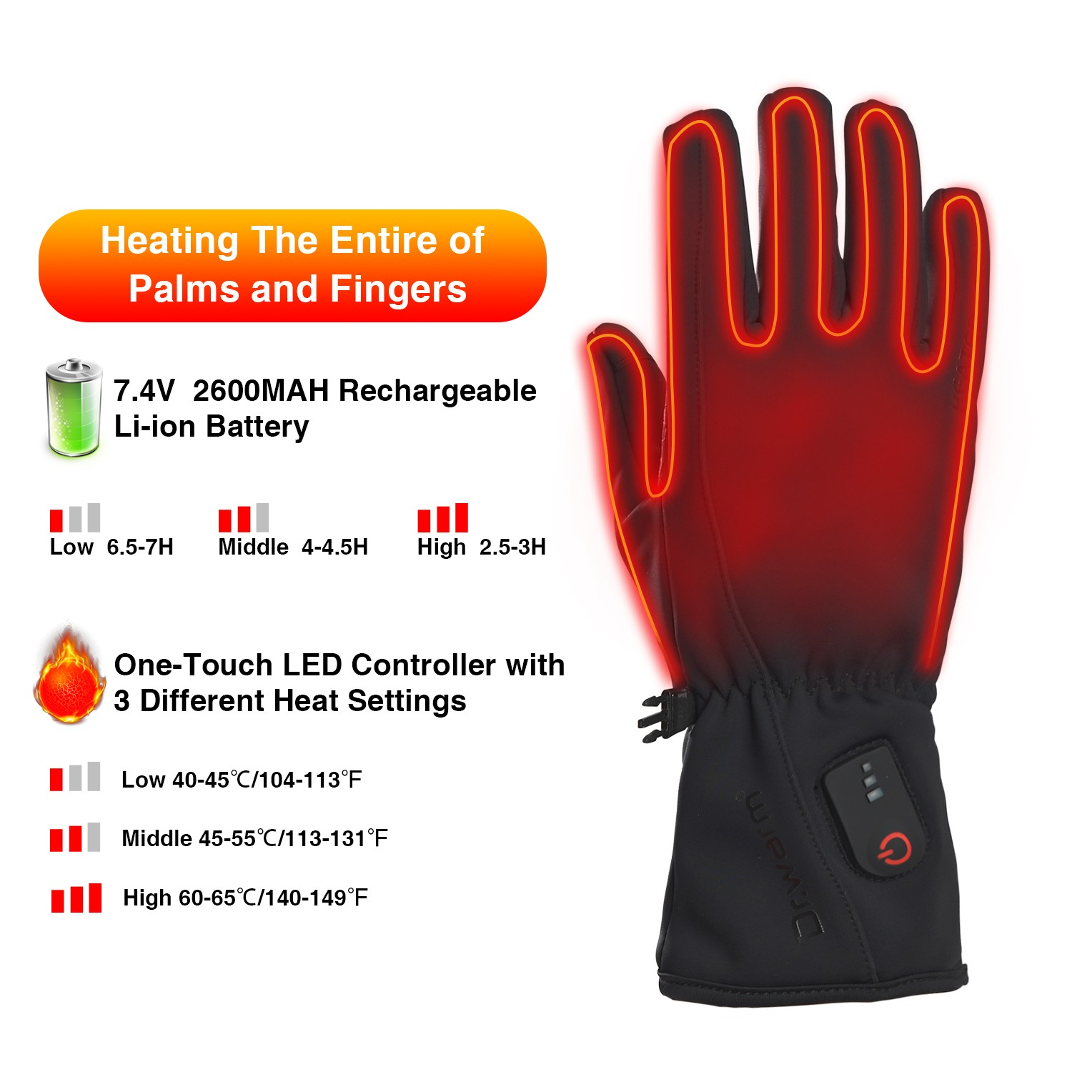 Dr. Warm sensitive heated winter gloves improves blood circulation for winter-7