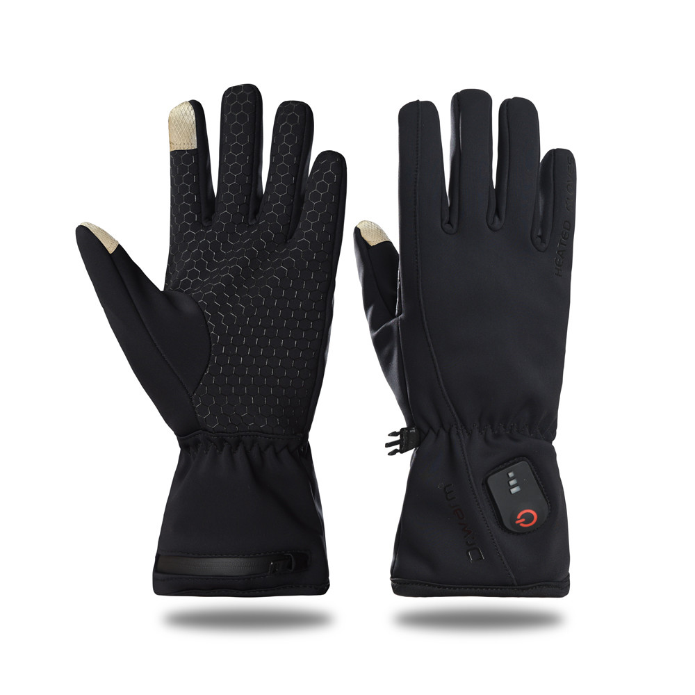 Rechargeable remote ski Heated Gloves Inner wearing Ultra slim touch screen long-lasting warm keeping