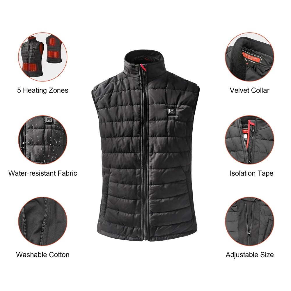 Winter custom usb battery bluetooth safety ski hunting 5v heated coats and warm clothing heated jacket