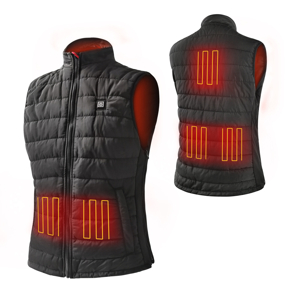 grid heated safety jacket sports with heel cushion design for home-3