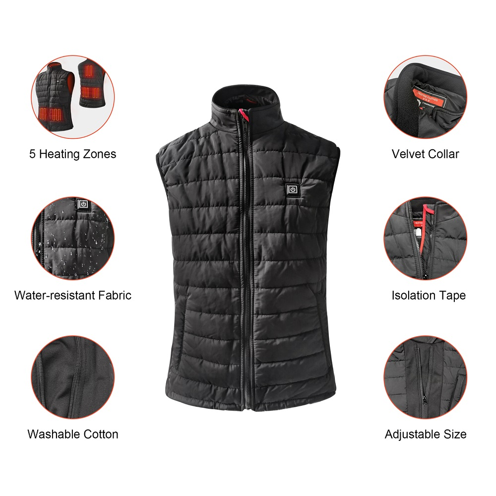 grid heated safety jacket sports with heel cushion design for home-7