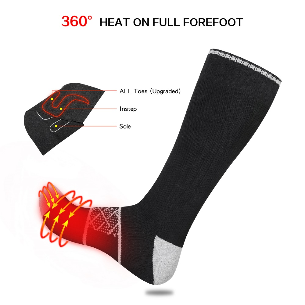 Dr. Warm heated battery heated socks with smart design for indoor use-3