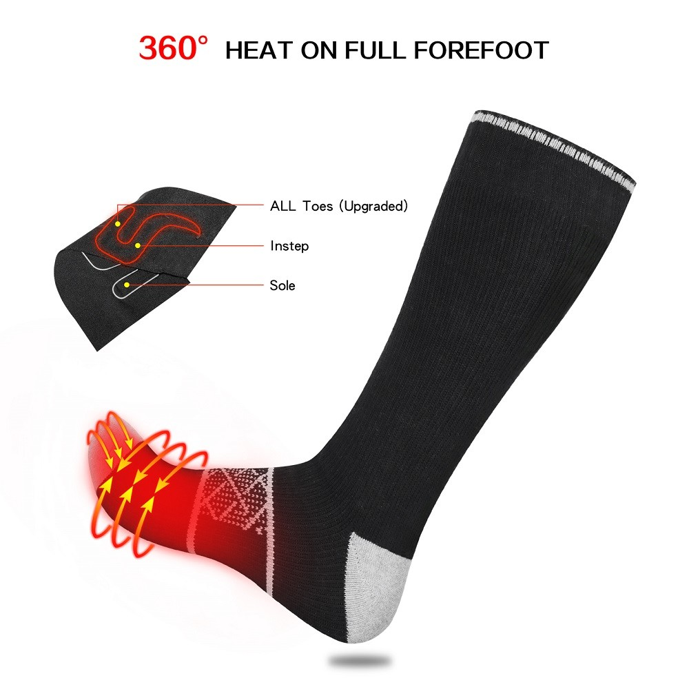 Dr. Warm cotton battery operated warming socks with smart design for home
