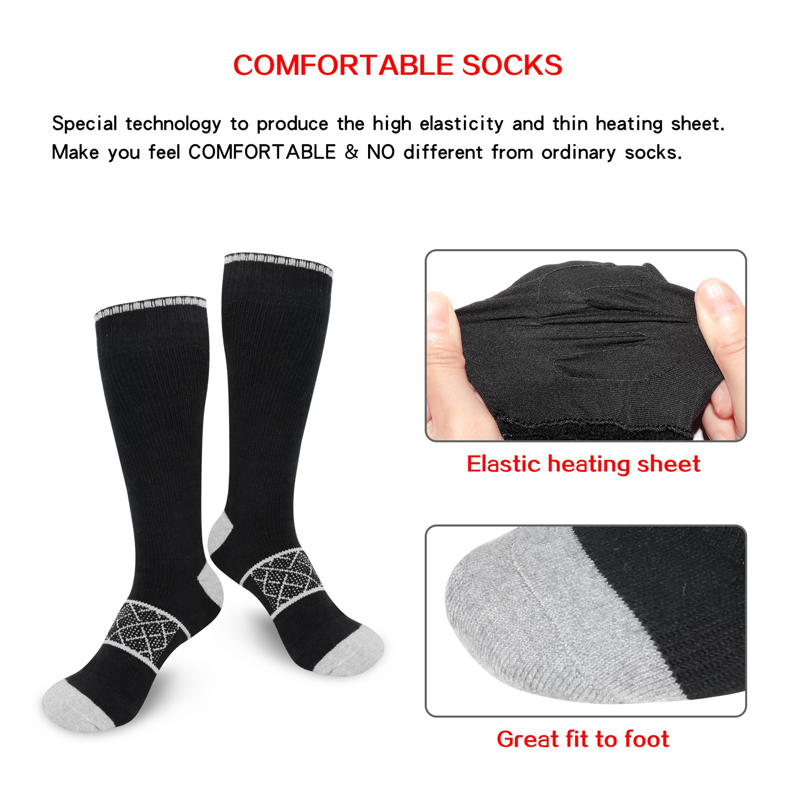 Dr. Warm cotton battery operated warming socks with smart design for home-12