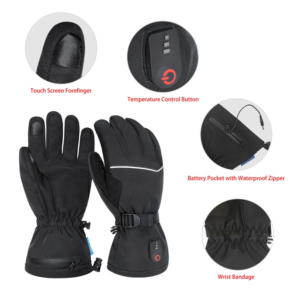 suitable battery powered gloves sensitive improves blood circulation for indoor use-7
