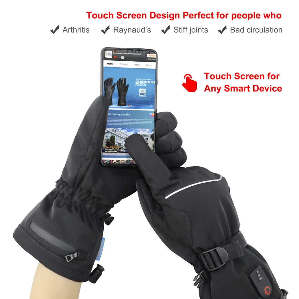 suitable battery powered gloves sensitive improves blood circulation for indoor use-8