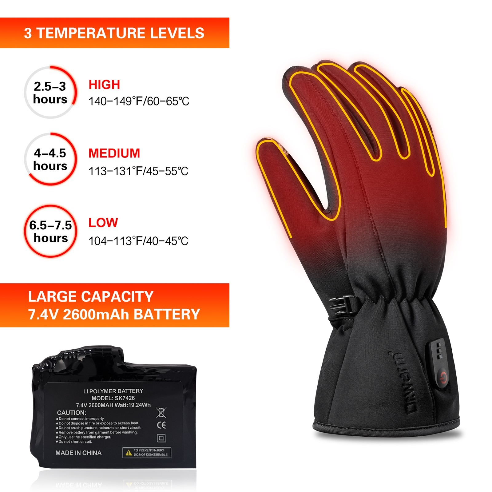 Dr. Warm winter electrical hand gloves for home