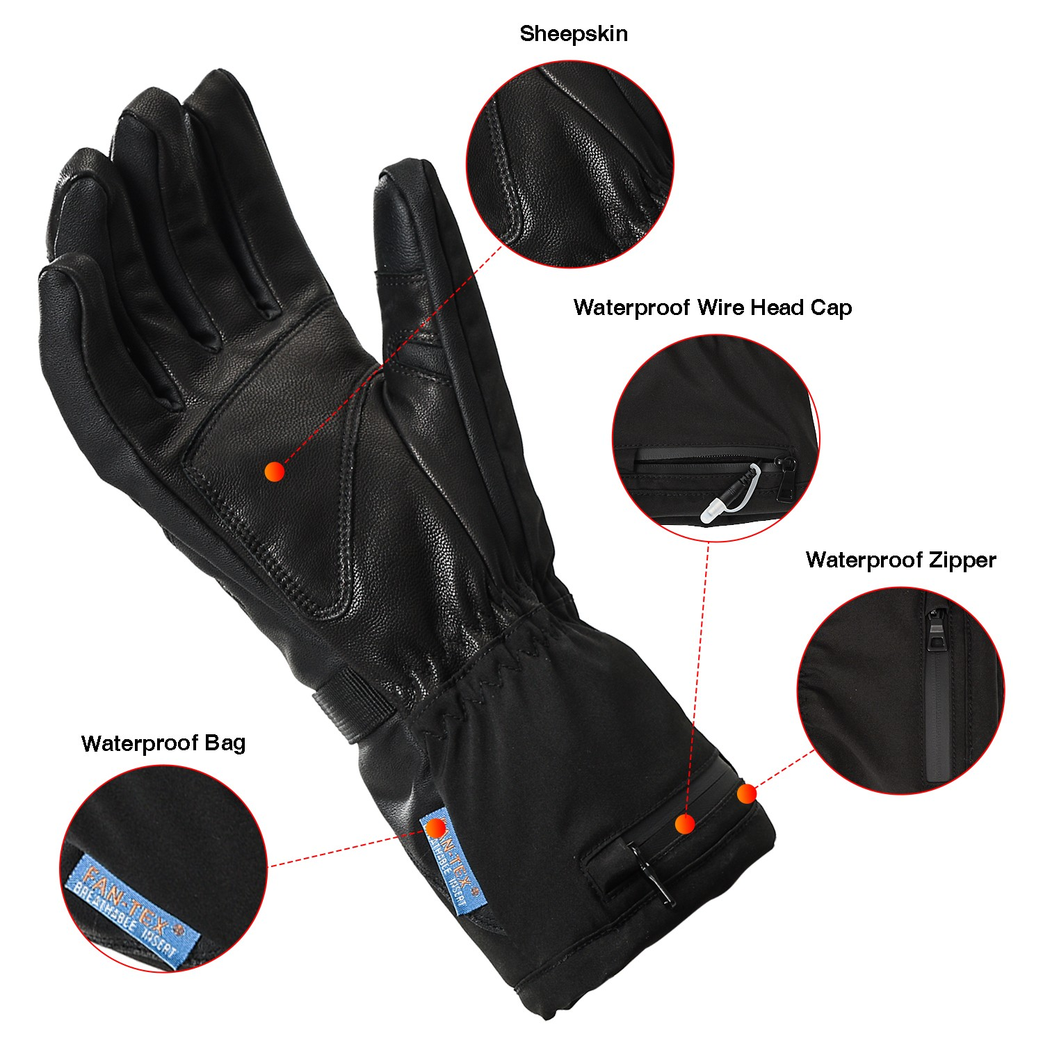 high quality electrical hand gloves warm with prined pattern for home-6
