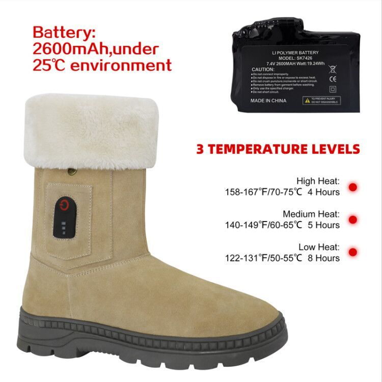 Electric heated boots rechargeable electric heating shoe with heating pad