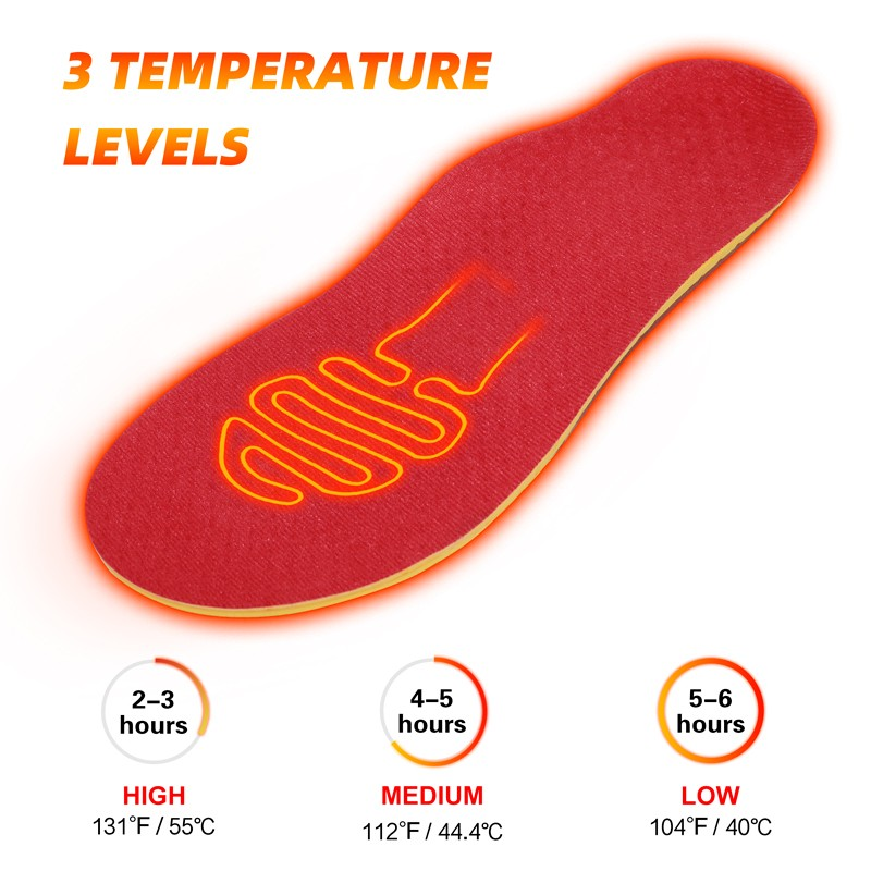 Dr. Warm rechargeable best heated insoles with cotton for outdoor-8