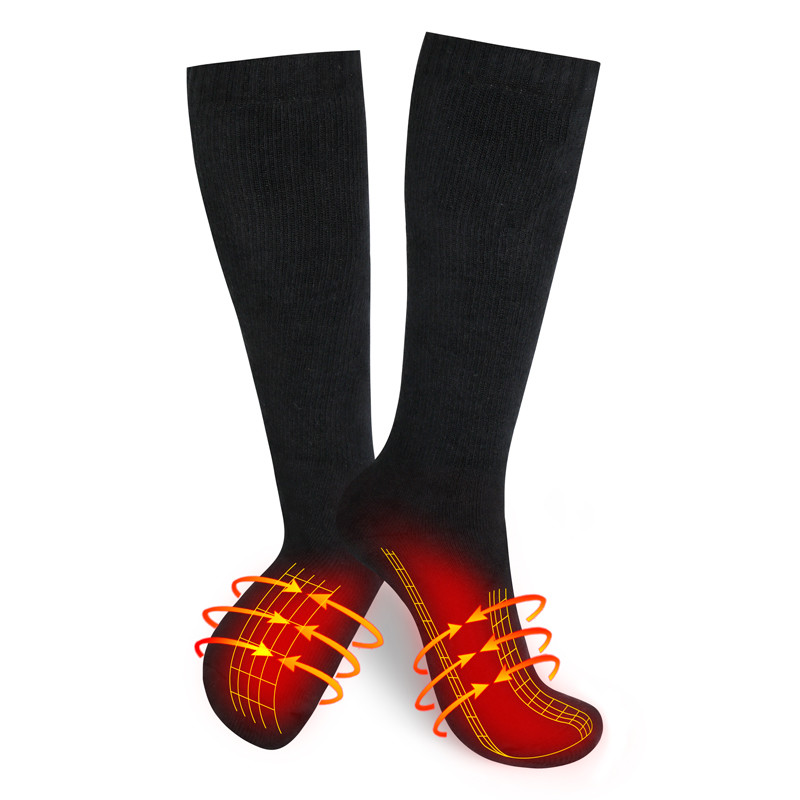 Wholesale Motorcycle Heated socks Custom Outdoor Sport Winter Warm Electric battery operated
