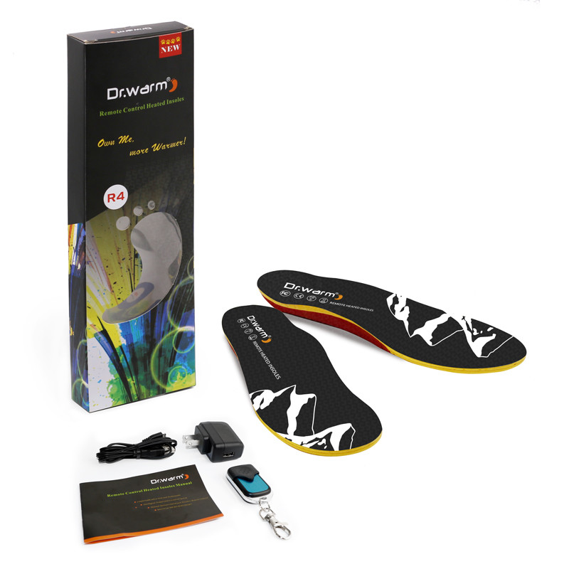 Dr.warm Remote Controlled Heating Insole  Rechargeable Built-in Battery for Winter Warming