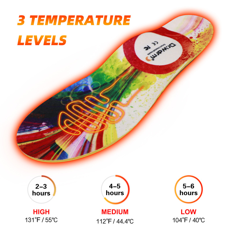 Dr. Warm S2 Heated Insoles Smart Phone Control