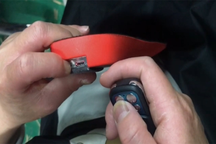 How Does the Operator Detect the Remote Control Insoles?