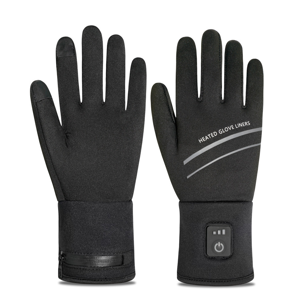 Windproof Driving Cycling Lithium Battery Winter Ski Kids Motorcycle Heating Gloves