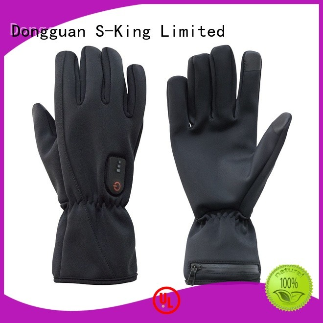 Dr. Warm screen rechargeable battery heated gloves with prined pattern for ice house