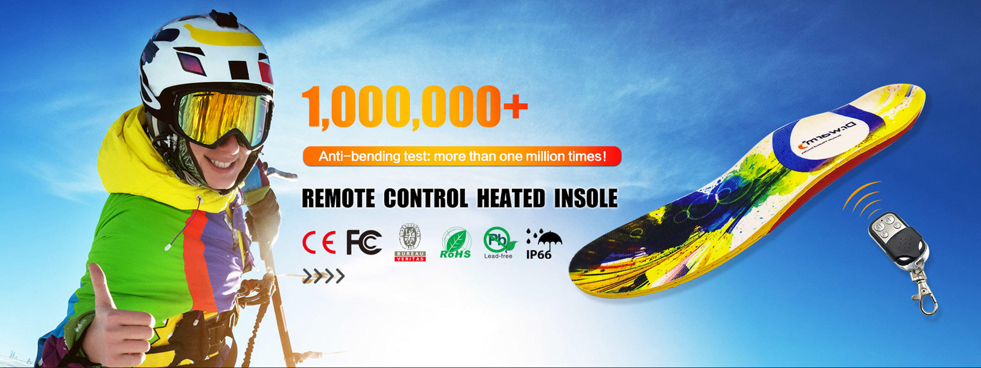 rechargeable best heated insoles control fit to most shoes for outdoor-4