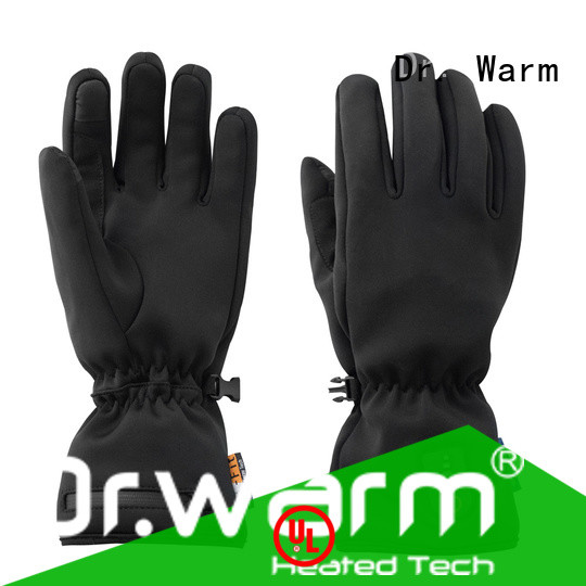 high quality heated winter gloves sensitive with prined pattern for indoor use
