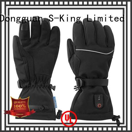 Dr. Warm sensitive electric gloves with prined pattern for indoor use