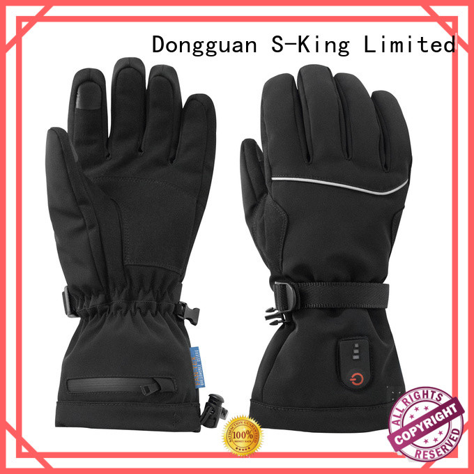 Dr. Warm men heated winter gloves with prined pattern for indoor use