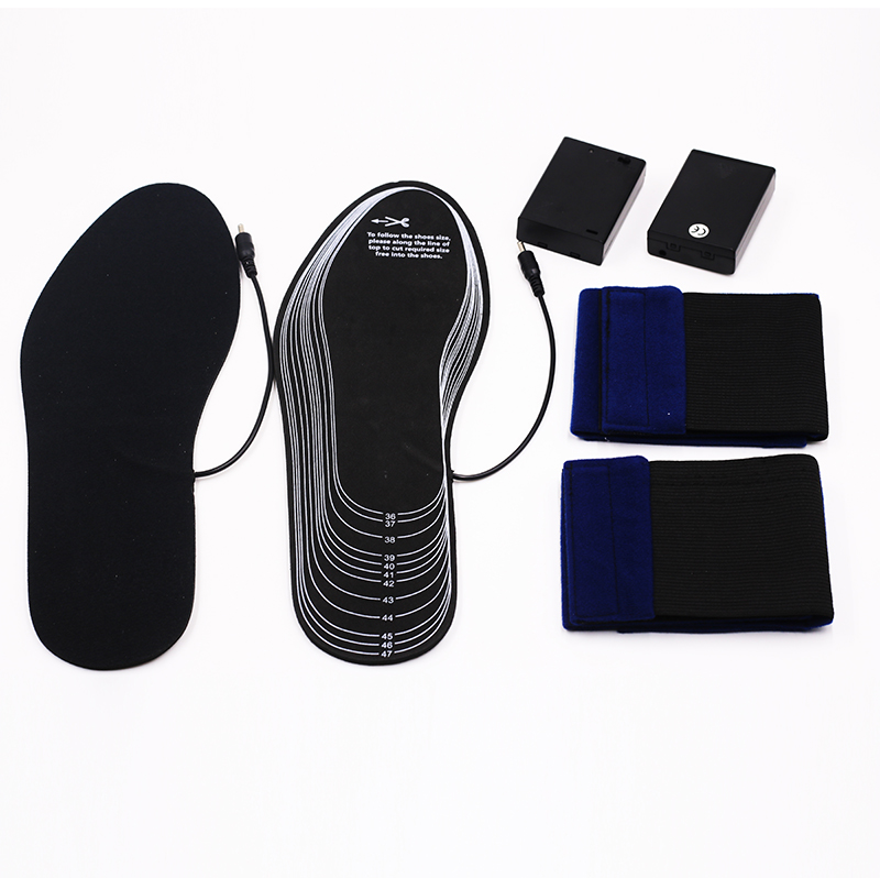 wire electric heated shoe insoles foot with cotton for home-14