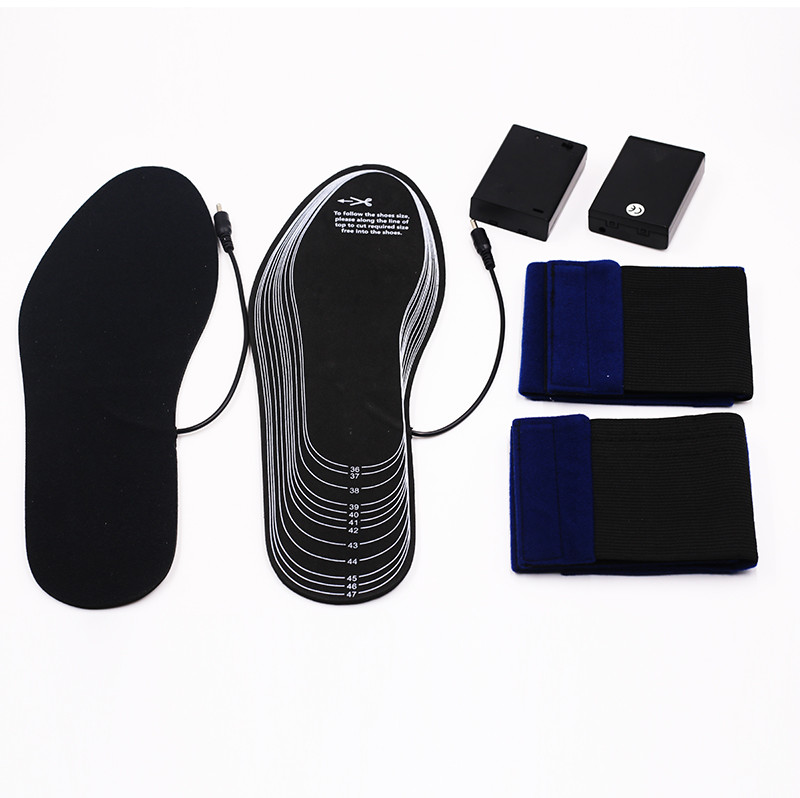 wire heated insoles skiing fit to most shoes for ice house