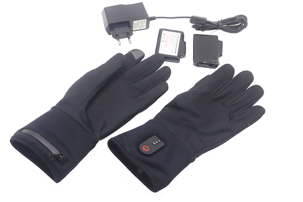 suitable battery heated gloves winter with prined pattern for ice house-20