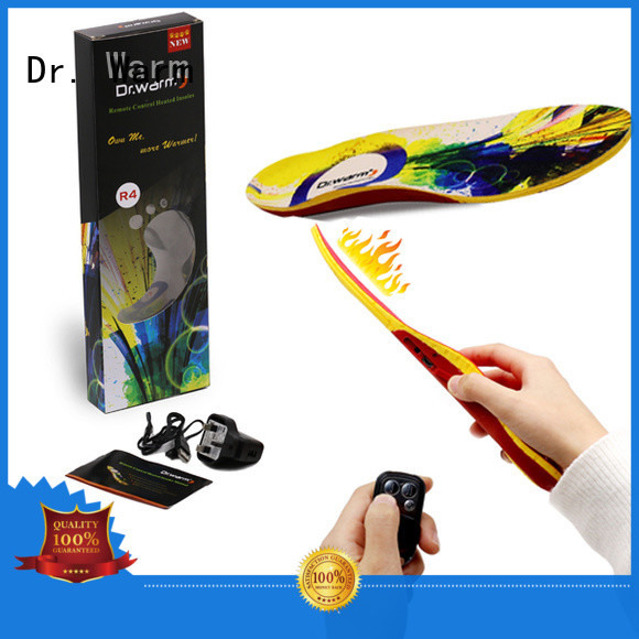 fishing bluetooth rechargeable Dr. Warm Brand heat moldable insoles manufacture
