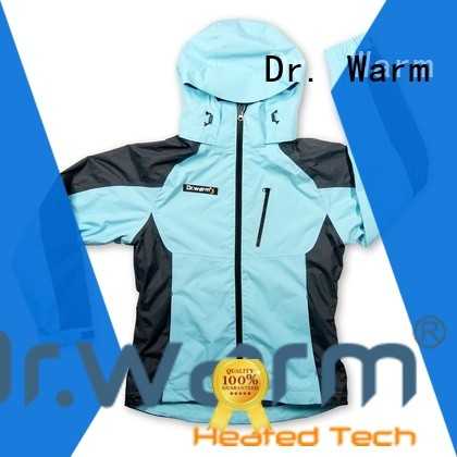 Dr. Warm grid best heated jacket with heel cushion design for ice house
