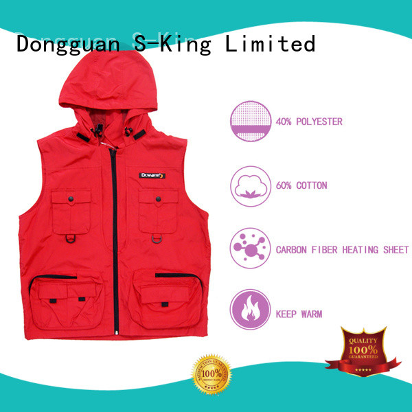 Dr. Warm battery vest warm with prined pattern for indoor use