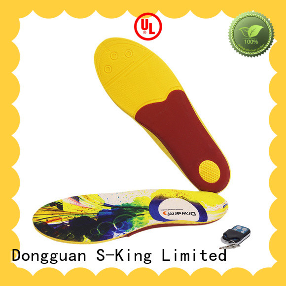 Dr. Warm remote electric insoles with cotton for outdoor