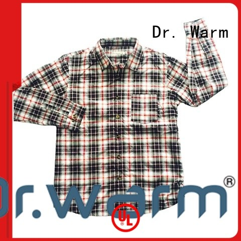 Dr. Warm grid cheap heated jacket with shock absorption for home