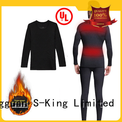 comfortable heated undergarments winter with prined pattern for ice house