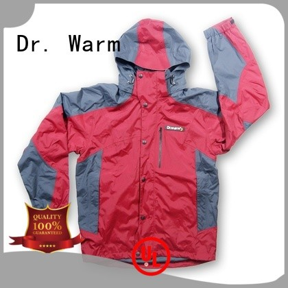 Dr. Warm online heated waterproof jacket with shock absorption for indoor use