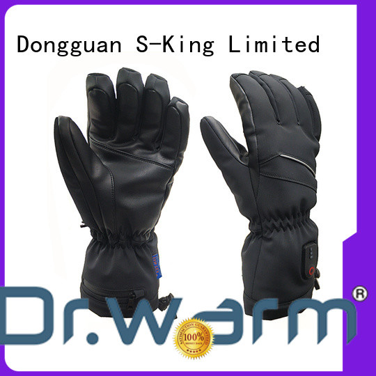 Dr. Warm high quality heated gloves canada with prined pattern for winter