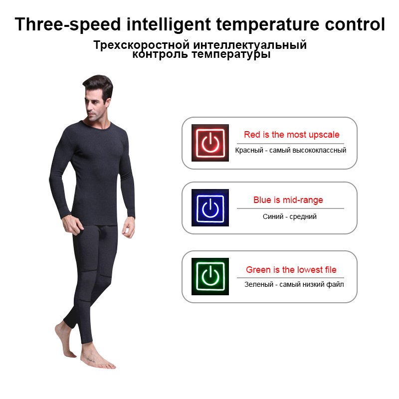 Dr. Warm clothes battery heated thermal underwear level for winter-9