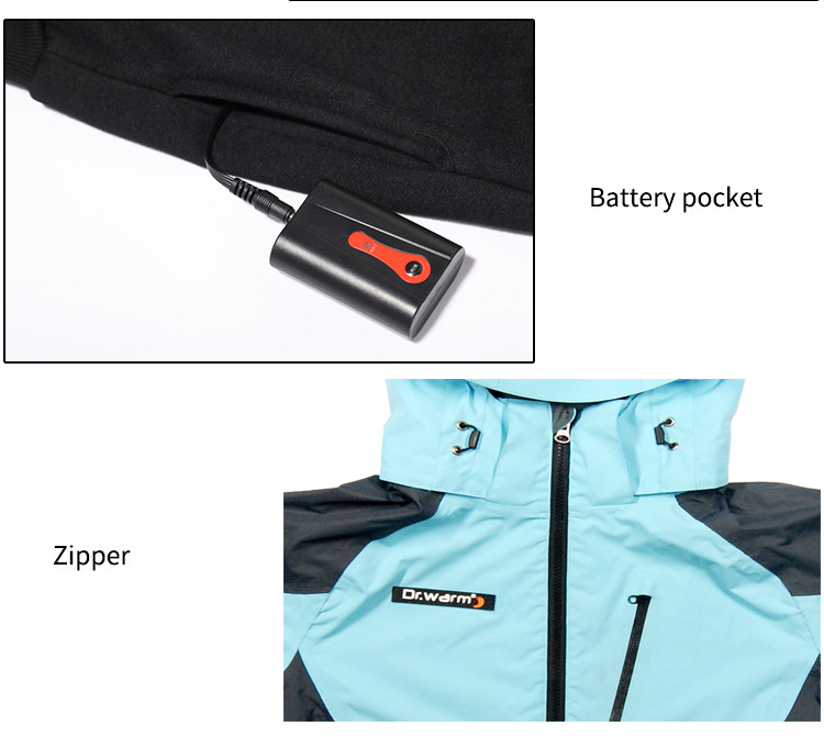 Dr. Warm grid battery operated jacket with shock absorption for ice house