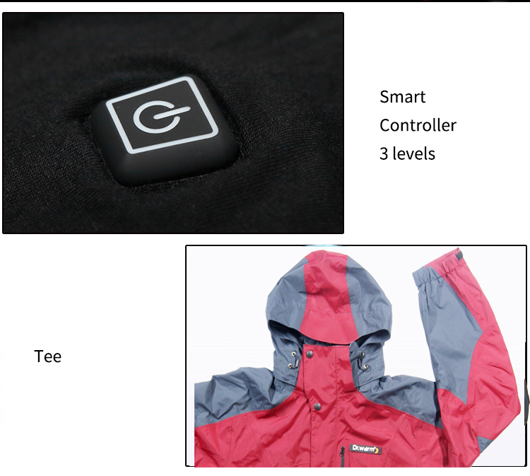 waterproof battery powered heated jacket with heel cushion design for indoor use Dr. Warm-9